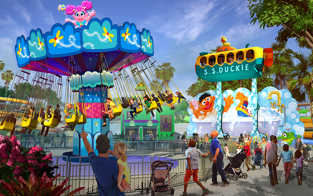 Sesame Place San Diego Ride Rendering